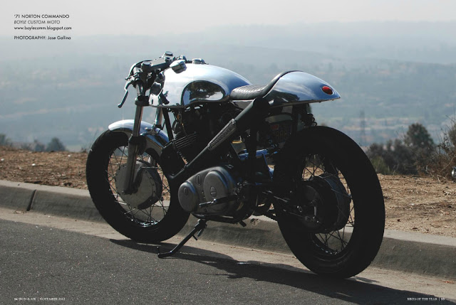 "Norton Commando Cafe Racer ""Ed"" by Boyle Custom Moto."
